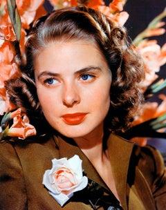 Ingrid Bergman with Flowers Globe Photos Fine Art Print
