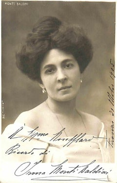 Irma Monti Baldini Autographed Photograph - 1905