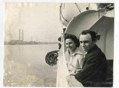 Islanders go back to Tristan - Avanti Vintage Photograph - 1963
