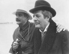 Italian Actor Marcello Mastroianni - Vintage b/w Photograph - 1980s