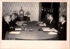 Italy-Iran Politicians Meeting - Vintage B/W photo - 1970s
