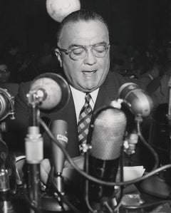 J. Edgar Hoover: F.B.I. Director at a Hearing Globe Photos Fine Art Print