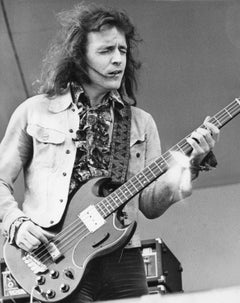 Jack Bruce of Cream Playing Guitar Vintage Original Photograph