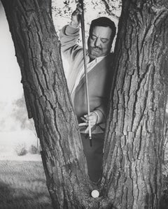 Jackie Gleason Comical Golf Portrait Globe Photos Fine Art Print