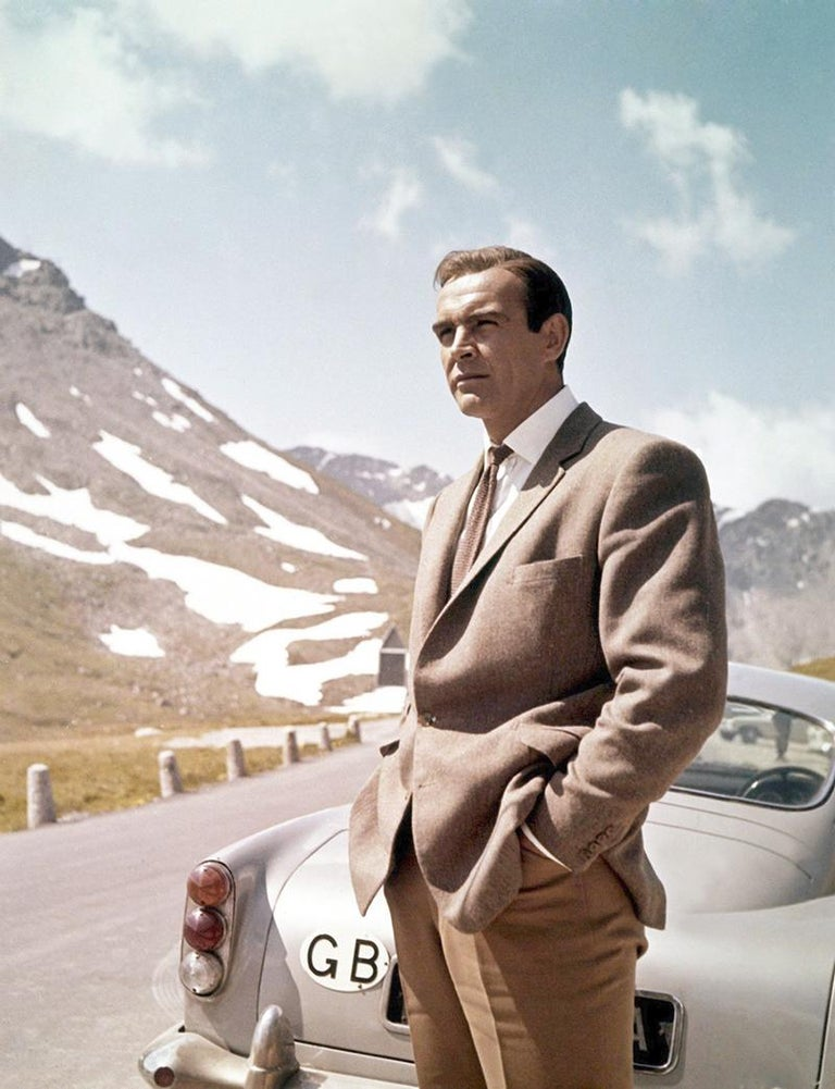 Unknown Portrait Photograph - James Bond 007 Sean Connery On Set In Scotland