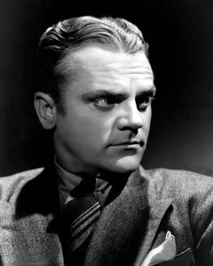 James Cagney Dramatic Portrait in the Studio Globe Photos Fine Art Print