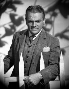 James Cagney Leaning on Fence Movie Star News Fine Art Print