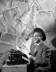 James Cagney with Typewriter Fine Art Print