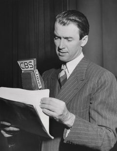James Stewart on CBS Radio Fine Art Print