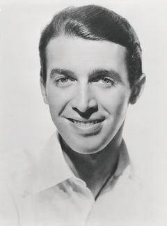 James Stewart Smiling Classic Portrait Globe Photos Fine Art Print