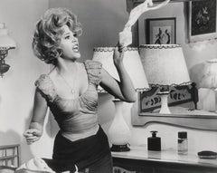 Jane Fonda: Comical Portrait Throwing Clothes Globe Photos Fine Art Print