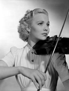 Jane Wyman Playing Violin Fine Art Print