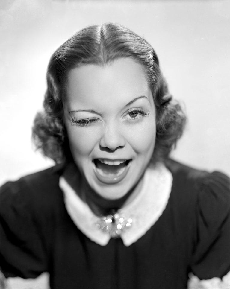 Unknown Black and White Photograph - Jane Wyman Winking Movie Star News Fine Art Print