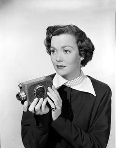 Jane Wyman with Camera II Movie Star News Fine Art Print
