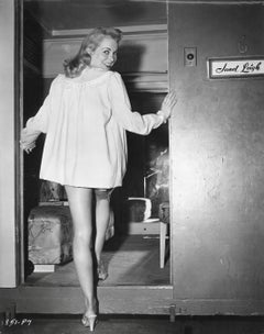 Janet Leigh Smiling in Nightgown Vintage Original Photograph