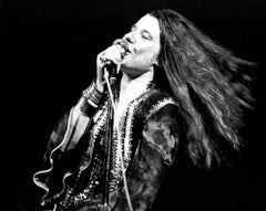 Janis Joplin Live at Woodstock Globe Photos Fine Art Print