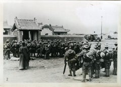 Japanese Troops at Mongolian-Chinese Border - Vintage Photo 1939