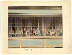 Japanese Women in Tokyo - Original Albumen Print - 1880s/90s