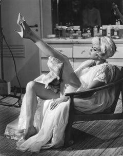 Jayne Mansfield Leggy Pinup in Robe Vintage Original Photograph