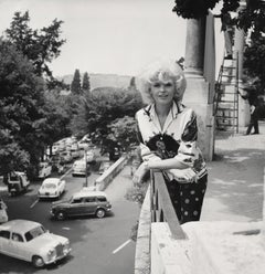 Jayne Mansfield on the Balcony Fine Art Print