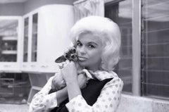 Jayne Mansfield with Puppy Fine Art Print