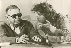 Jean-Paul Sartre with Daniel Cohn-Bendit 1968