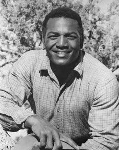 Jim Brown Smiling Outdoors Vintage Original Photograph