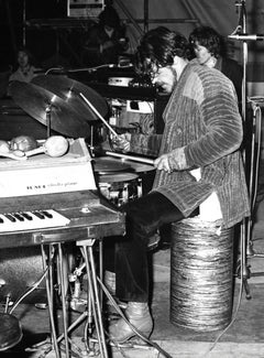 Jim Capaldi of Traffic Playing Drums Vintage Original Photograph