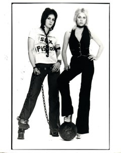 Joan Jett and Cherrie Currie of The Runaways Vintage Original Photograph
