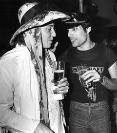 John Deacon and Freddie Mercury of Queen Candid Vintage Original Photograph