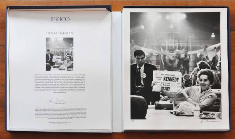 In celebration of the John F. Kennedy Centennial, JFK Editions is proud to offer an exclusive box set of four limited-edition fine art photographs of President John F. Kennedy by legendary photojournalists Ted Spiegel, George S. Zimbel, Henri