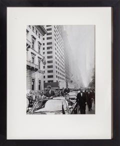 John F. Kennedy Motorcade, Vintage Black and White Photograph