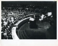 John Fitzgerald Kennedy at the meeting of the UN- Original Vintage Photo - 1960s