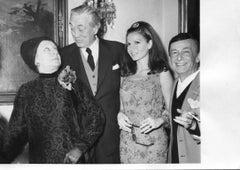 John Huston, Paola Borboni and Eva Bartok - Vintage Photograph - 1970s