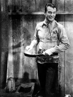 "John Wayne Smiling for ""Blue Steel"" Globe Photos Fine Art Print"