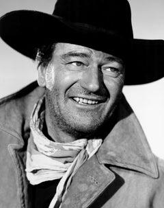"John Wayne Smiling in ""The Searchers"" Globe Photos Fine Art Print"
