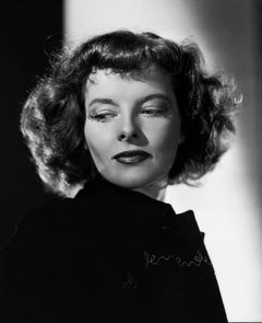 Katharine Hepburn: Glamour Looking Down Movie Star News Fine Art Print