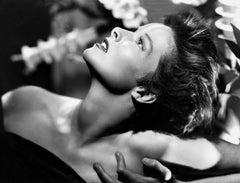 Katharine Hepburn: Sexy Glamour Looking Up Movie Star News Fine Art Print