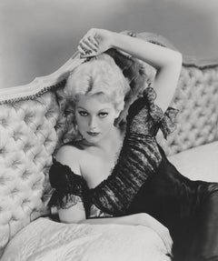 Kim Novak Pinup in Bed Fine Art Print
