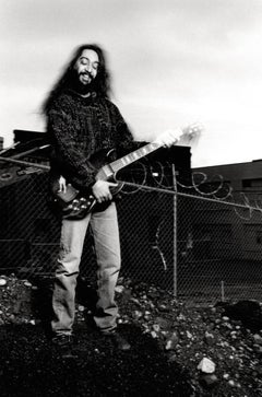 Kim Thayil of Soundgarden with Guitar Vintage Original Photograph