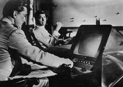 Kirk Douglas and Burt Lancaster - Vintage b/w Photograph - 1964
