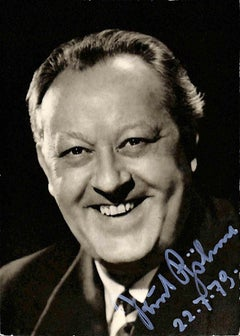 Kurt Böhme Autographed Photograph - 1979