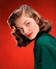 Lauren Bacall in Stunning Color Globe Photos Fine Art Print