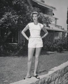 Lauren Bacall Standing Outdoors Fine Art Print