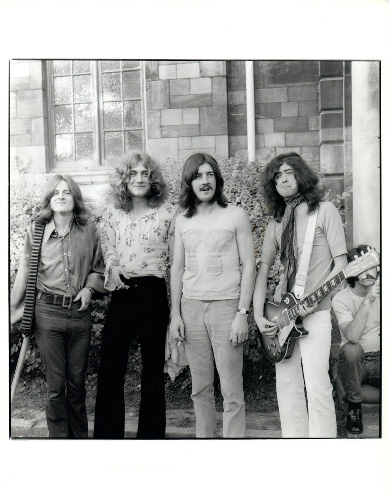 Unknown black and white photograph led zeppelin at the bath festival vintage original photograph