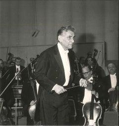 Leonard Bernstein - Original Vintage Photograph - 1970s