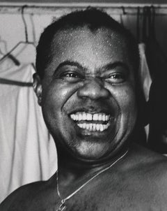 Louis Armstrong Laughing Fine Art Print