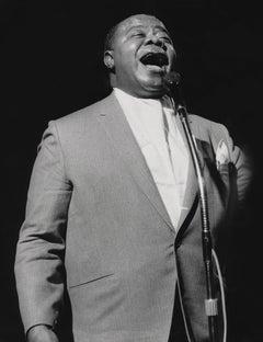 Louis Armstrong Singing Fine Art Print