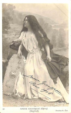 Louise Grandjean Autographed Photograph - 1906