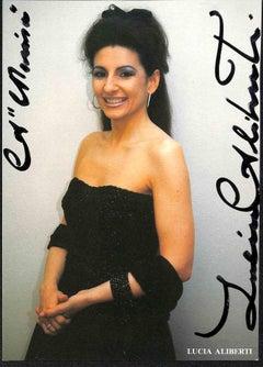 Lucia Aliberti Autographed Photograph - 1990s